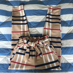 MissPap Nova Check Paper Bag Pants